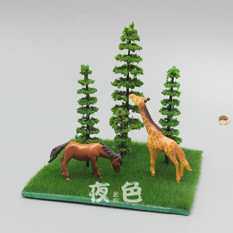 植毛仿真草皮草坪仿真青苔石苔蘚球植物墻材料展柜草墊滿25元包郵