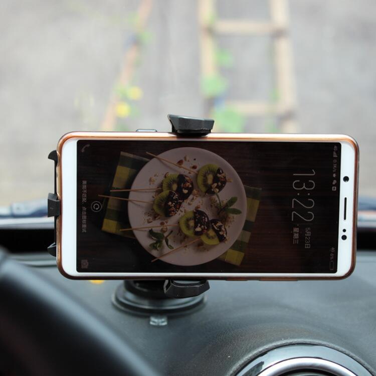 直銷批發 黑金剛手機架 可伸縮手機支架 A品硅膠底 車載手機架