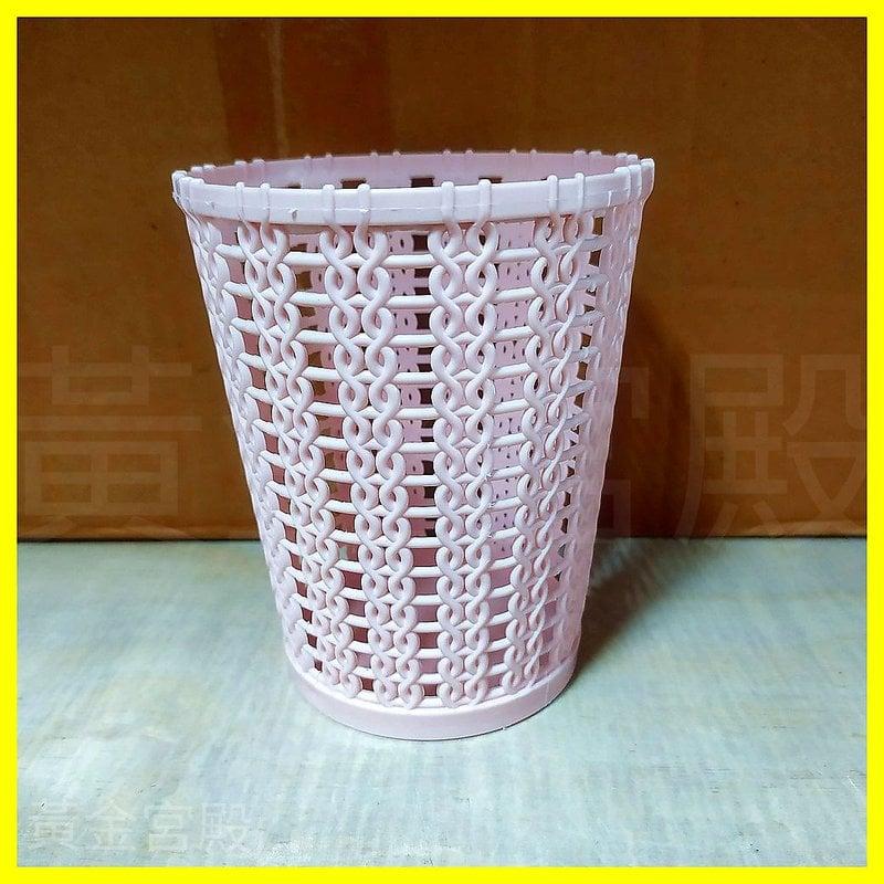 圓形 筆筒 置物架 置物桶 紅/藍/紫 約上寬10高12底寬7.5公分 塑膠 筆桶