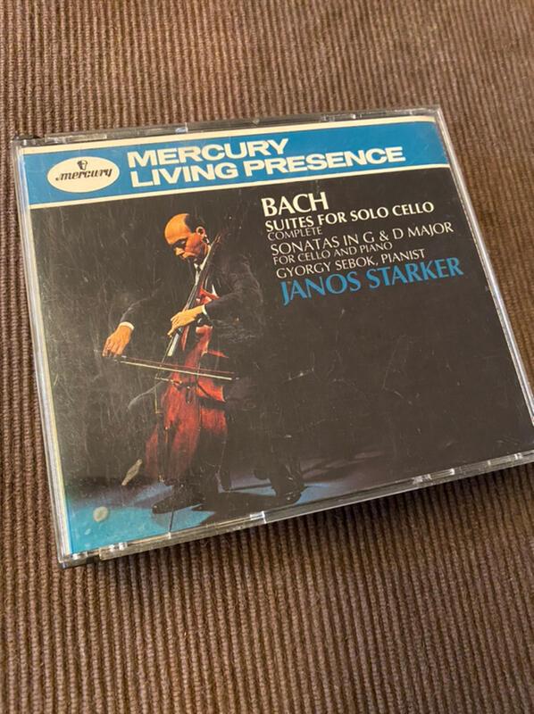 (協奏曲)Janos Starker-Bach:Suites for Solo Cello(2CD,1991美版)