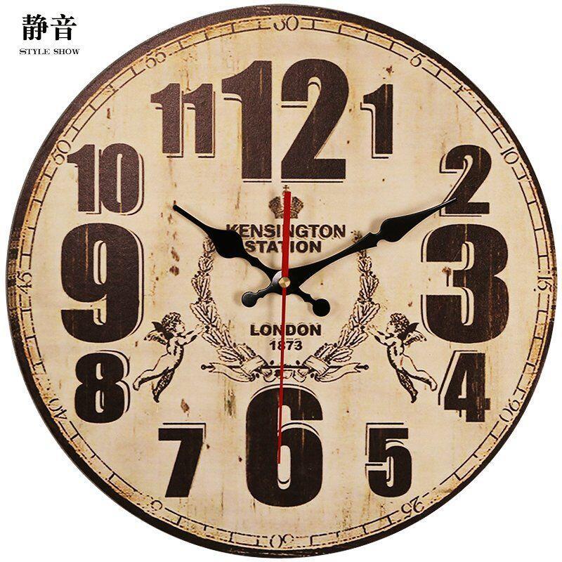 清倉歐式復古鐘表掛鐘客廳家用時尚掛表墻上臥室創意簡約時鐘掛墻