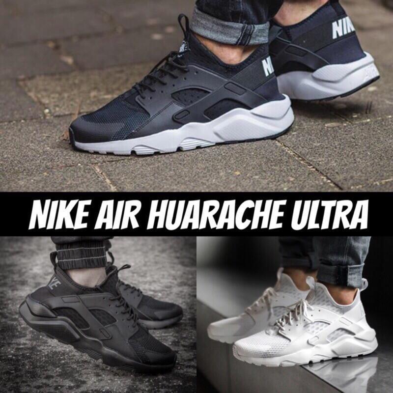 耐吉Nike Air Huarache Run Ultra 4代黑武士黑白配色 男女華萊士 慢跑鞋 男女運動鞋