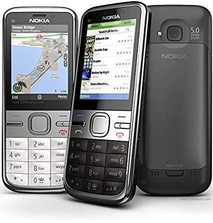 原廠盒裝 Nokia C5-00 送保護貼 直立式時尚機 3G軍人機 老人機 科技園區專用 空機價