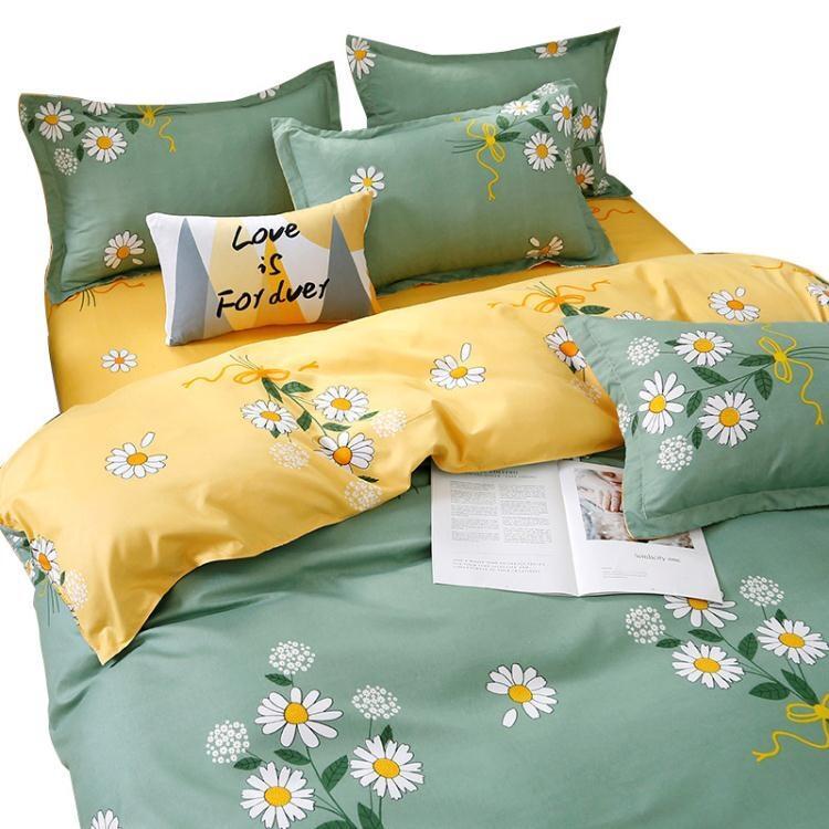 床上用品 水洗棉四件套被套被單床上用品學生宿舍被子ins磨毛三件套床單人4 好樂匯
