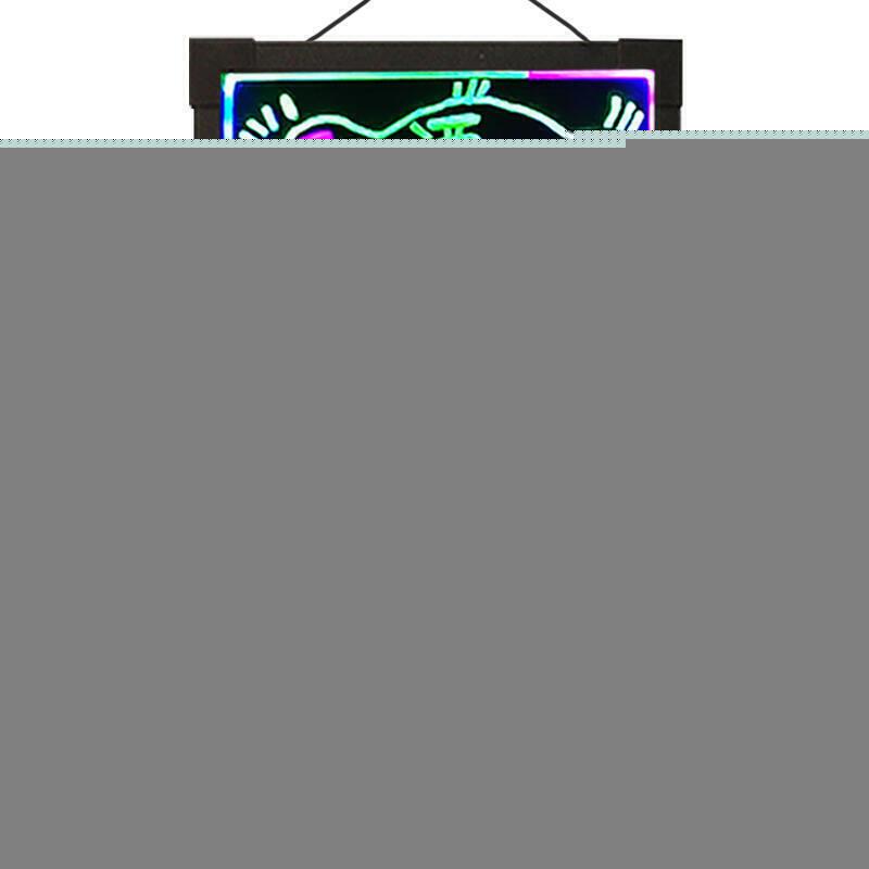 led電子掛式插電充電4060cm熒光板廣告板餐廳店鋪實體店手寫屏宣傳展示牌小黑板店鋪用發夜光寫字畫板廣告牌