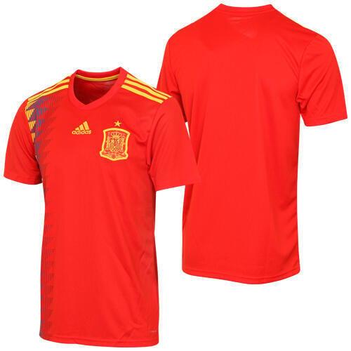西班牙正品2018世界杯 Adidas主場球迷版足球隊服短袖球衣CX5355[解憂球衣]