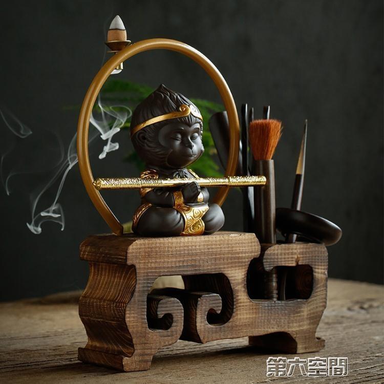 !茶具 配件 茶道六君子套裝實木黑檀木泡茶工具茶盤茶寵擺件整套功夫配件      大江百貨