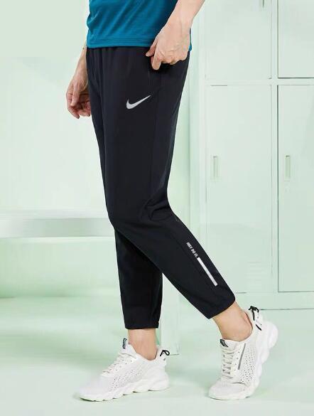 【千品】Nike情侶褲 長褲 運動九分褲男生 女生 束口褲 運動褲 休閒長褲 慢跑褲 學生褲 速乾褲39655