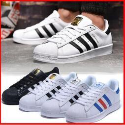 【千品】Adidas 三葉草板鞋 superstar 金標 黑標 復古經典款 貝殼鞋 貝殼頭板鞋 走路鞋 男女鞋 休閒