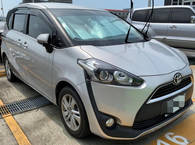 TOYOTA  SIENTA 銀 2017 里程實跑2.5萬 認證車 中古車 超值購