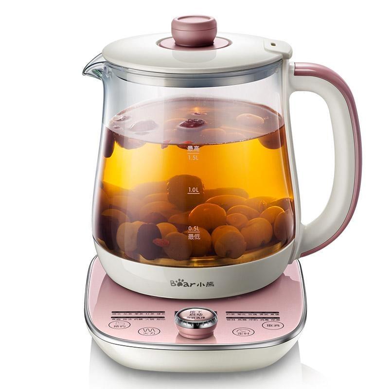 小熊養生壺全自動加厚玻璃多功能電熱燒水壺花茶壺迷你煮茶器養身