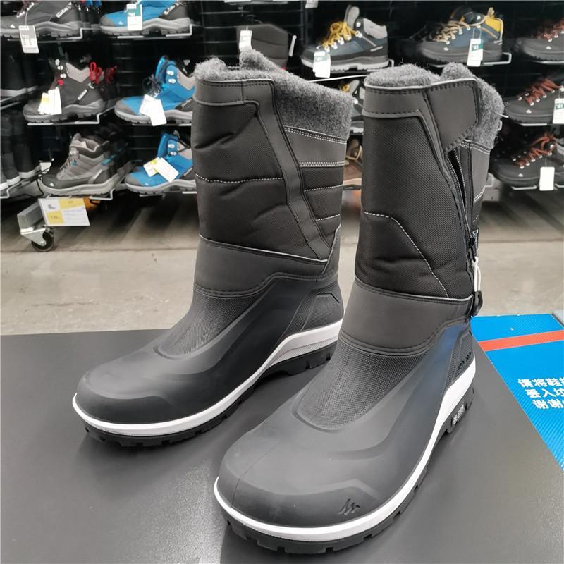 迪卡儂靴鞋雪地女雪地靴戶外男防滑防水棉鞋登山冬加絨QUS