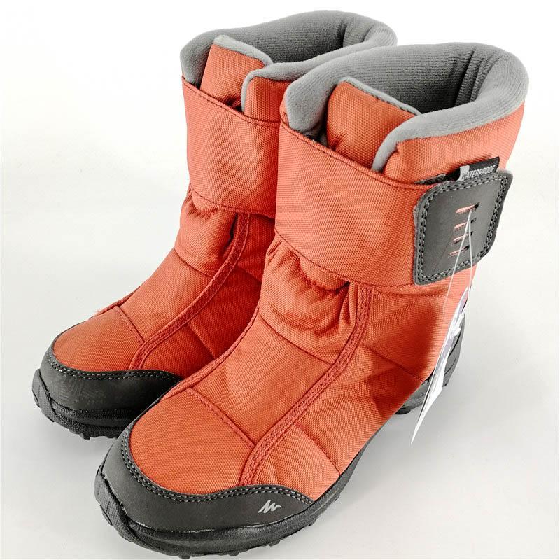 迪卡儂兒童雪地鞋靴女童男童靴子冬季童靴2019加厚防水短鞋棉