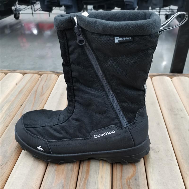 迪卡儂 男士 秋冬 保暖鞋 防水雪地靴/雪地鞋 高幫鞋靴子 QUECHUA