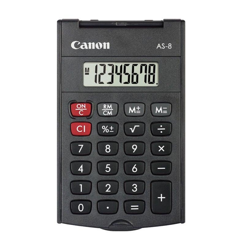 正版現貨Canon佳能AS-8旋轉硬蓋計算器迷你便攜式日常出差辦公計算機包郵