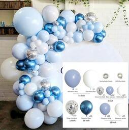現貨在台 DIY派對佈置小天才✔🎈🍷拍照神美 藍色系氣球 生日佈置派對求婚歡送慶祝 懶人組合包