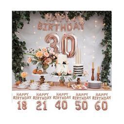 DIY佈置派對小天才✔🍻拍照必備happy birthday生日裝飾鋁箔氣球18/30歲大數字 懶人組合