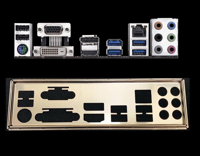 GA 技嘉 B250M-D3H、B250M D3H 1:1 訂製 不銹鋼 後擋板 後擋片