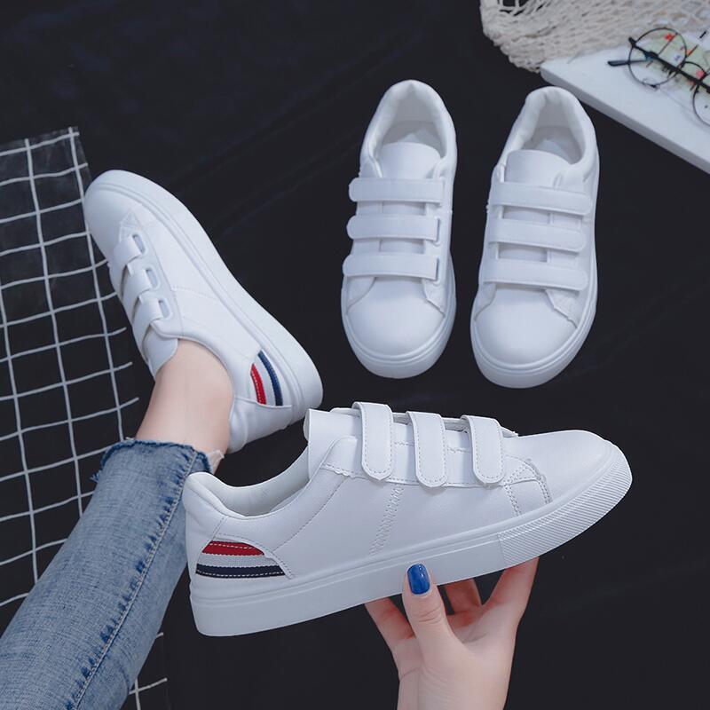 小白鞋女2020初擬新款韓版魔術貼百搭時尚平底學生泫雅風休閑鞋女