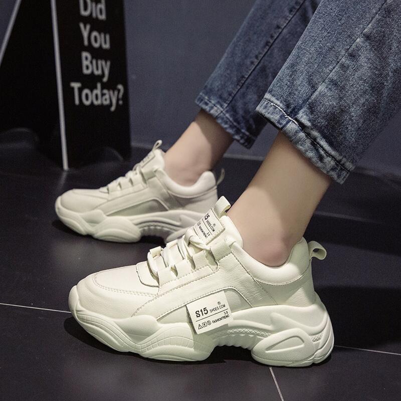 鞋子女2019潮鞋秋季新款松糕底增高韓版時尚百搭學生休閑鞋運動鞋