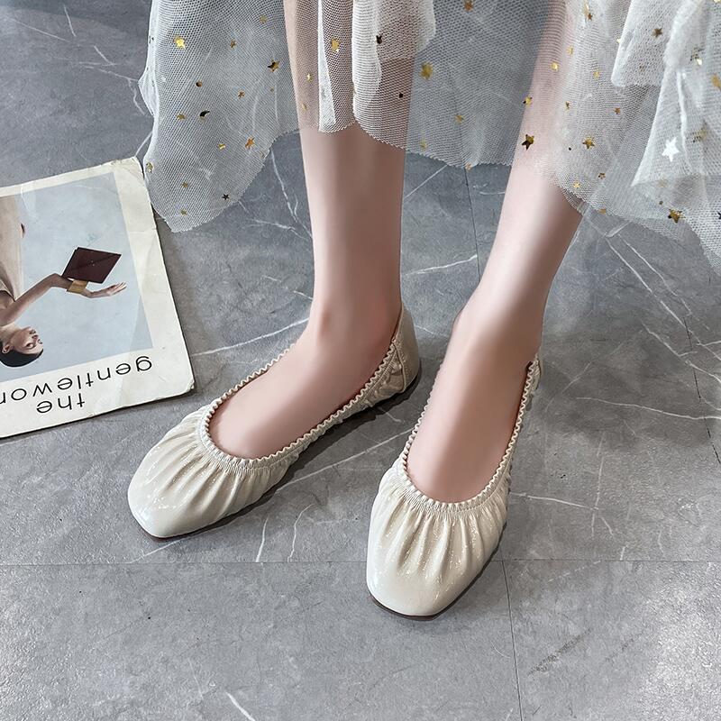 懶人瑪麗珍鞋女2020年夏季新款學院風圓頭淺口平底防滑單鞋孕婦鞋