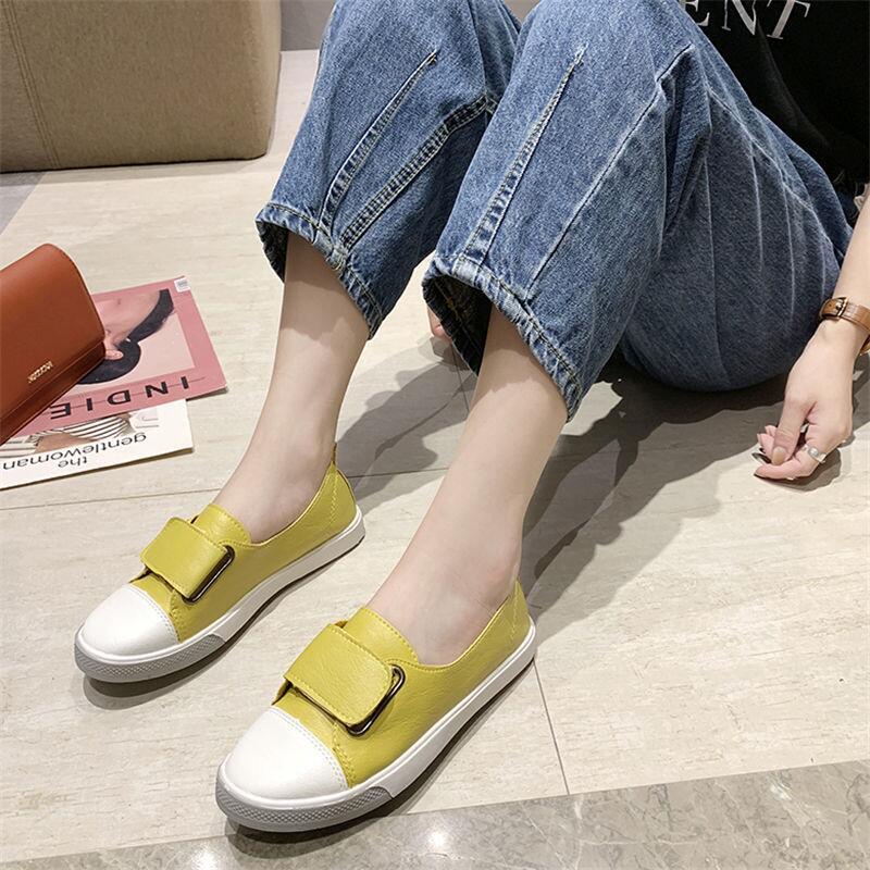 2020春季新款韓版小白鞋女鞋子百搭平底魔術貼休閑鞋學生原宿單鞋