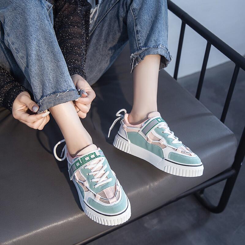 韓版ulzzang小白鞋女2020年夏季新款運動風ins潮學生休閑厚底板鞋