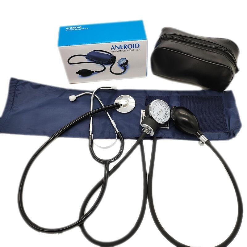 廠家直銷血壓表外銷醫用手臂式血壓表單頭聽診器套裝無液血壓計