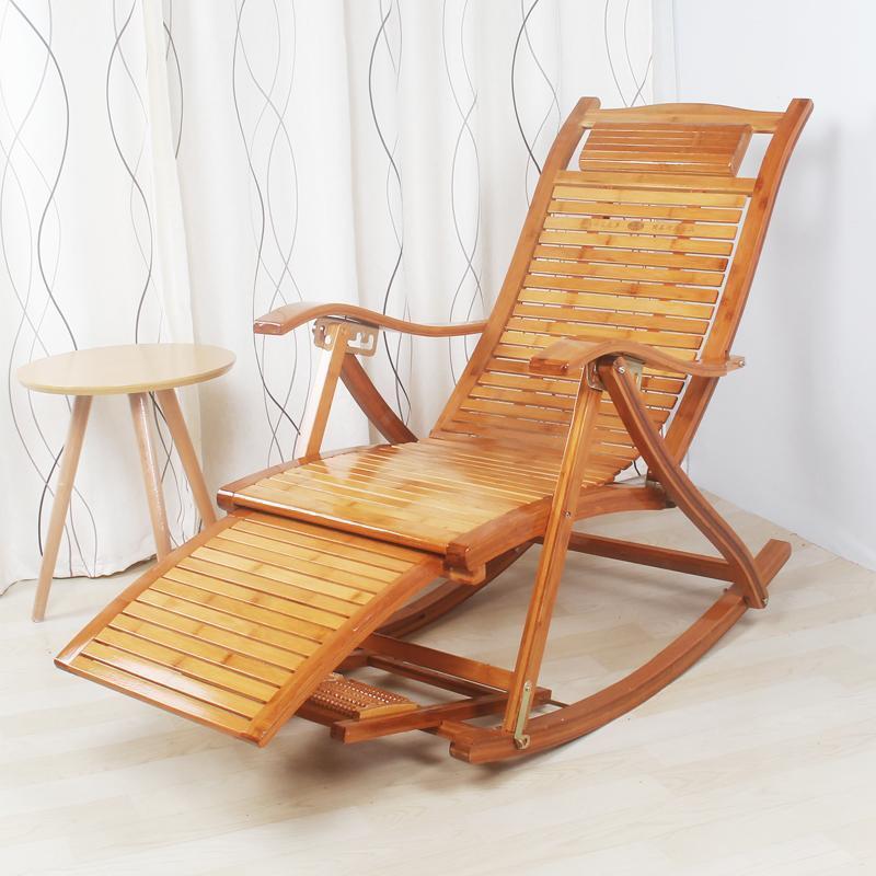 可開發票-竹搖椅躺椅逍遙椅成人搖搖椅懶人陽台午睡椅老人休閒折疊午休椅子xw