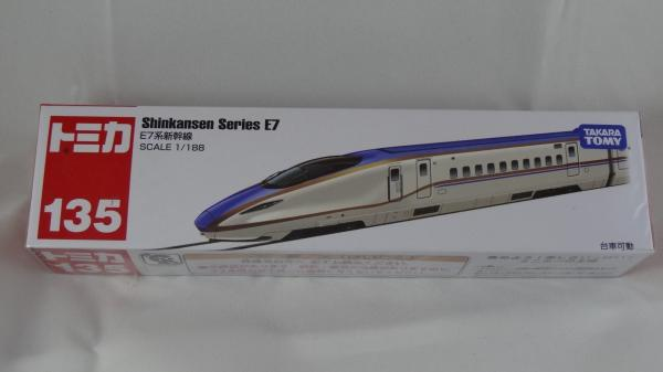 禮物 獎品  TOMICA NO.135 E7系新幹線 玩具車 長盒 TOMICA  新幹線 小汽車