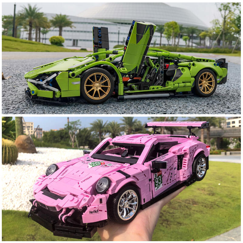 樂高積木蘭博基尼汽車系列布加迪跑車模型成年高難度益智拼裝玩具