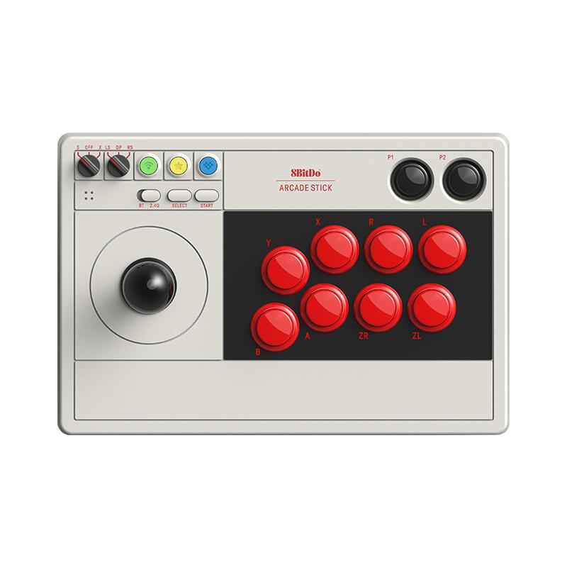 八位堂8BitDo街機搖桿V3標準版三和版多模連接LED實時佈局顯示格鬥PC電腦任天堂NS Switch/Lite遊戲機