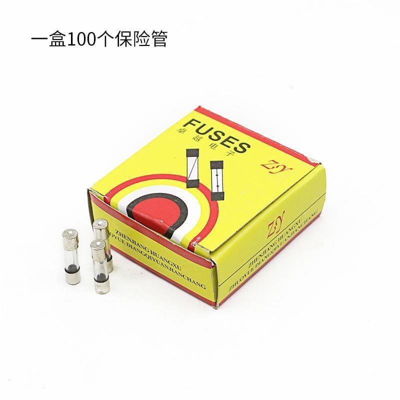 精品一盒100個玻璃保險管保險絲熔斷器10A 萬用表保險管萬能表保險管實用優選現貨露天拍賣