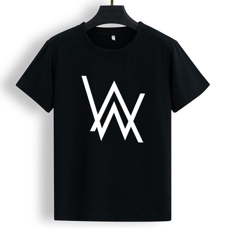 歐美爆款韓潮流男神時尚英倫學院風 Alan Walker艾倫沃克DJ印花 男女同款  短袖T恤 情侶T 嘻哈 街頭