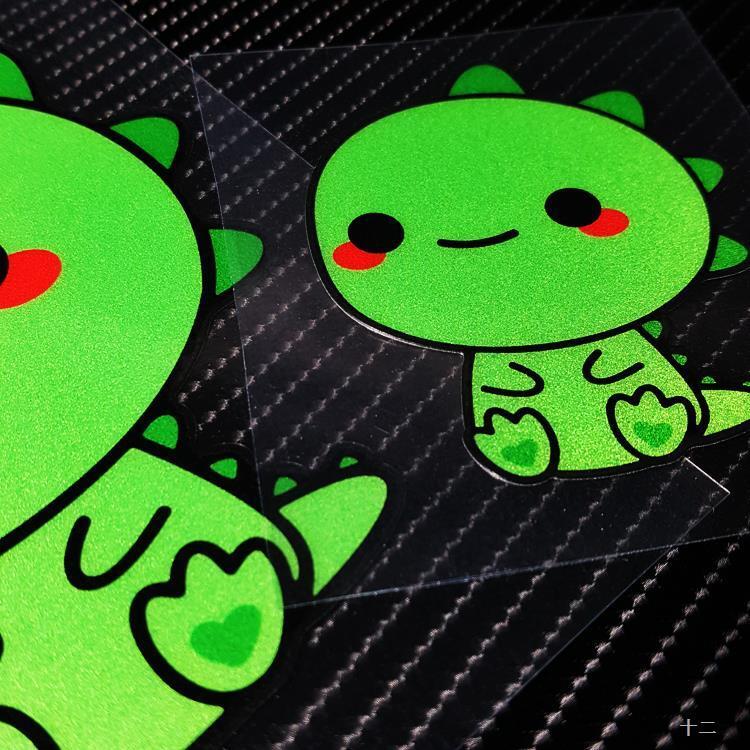 卡寺車貼汽車卡通可愛恐龍車貼個性搞笑創意貼紙車身兩側划痕遮擋