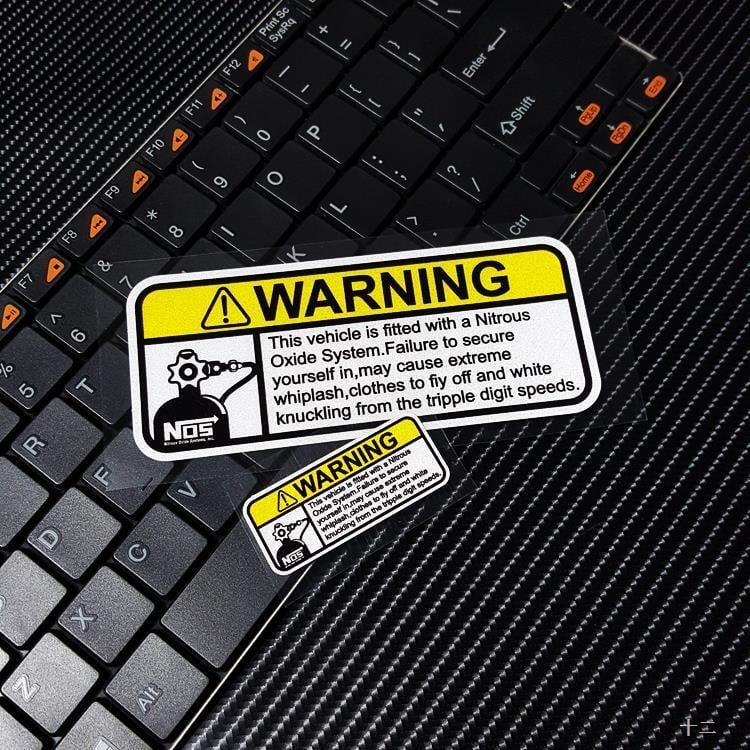 個性創意改裝NOS反光貼氮氣加速車內警示貼車載滅火器裝飾貼紙