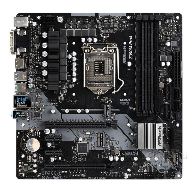 超低價熱賣適用ASRock 華擎Z390M Pro4 主板針腳1151 支持8.9代CPU