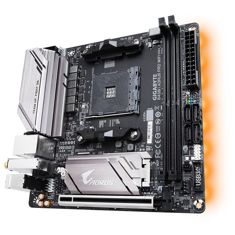 超低價熱賣技嘉B450 I AORUS PRO WIFI主板AM4接口迷你ITX主板適用
