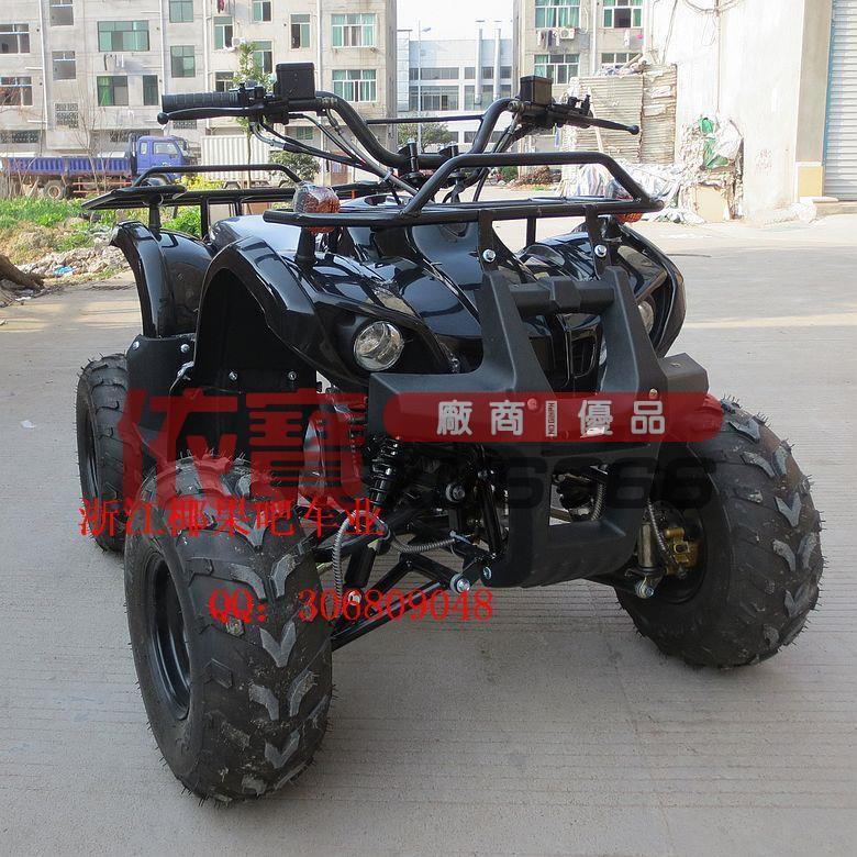 【依寶改裝】125CC四輪越野摩托車 前后碟剎小公牛沙灘車 鐵油箱 7寸真空輪胎 露天拍賣