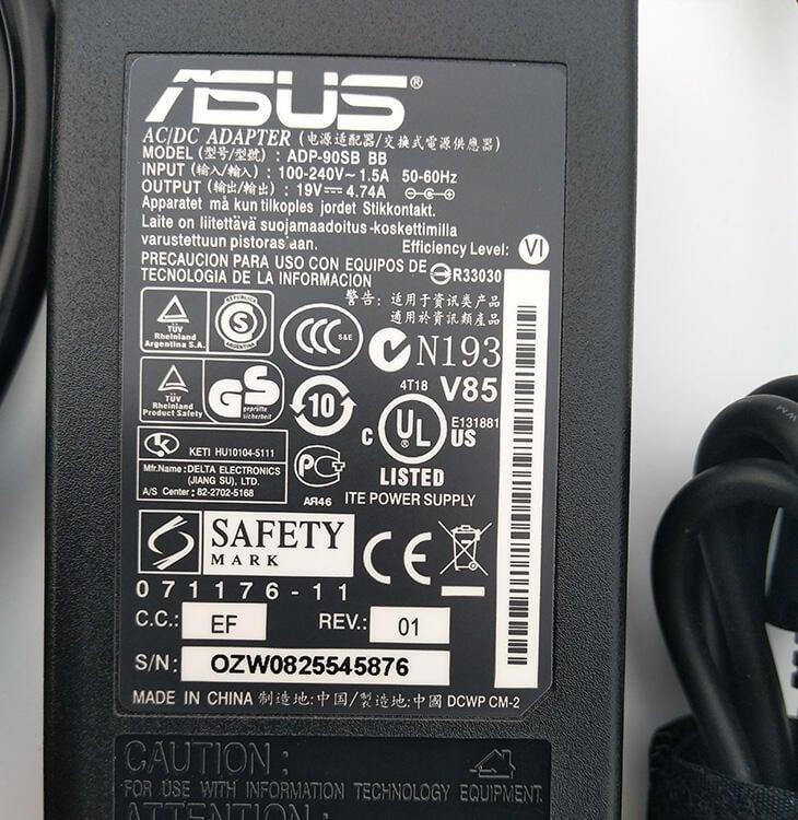 原裝華碩電源適配器筆記本充電器A45A53vA55A43s A56電腦19V4.74A