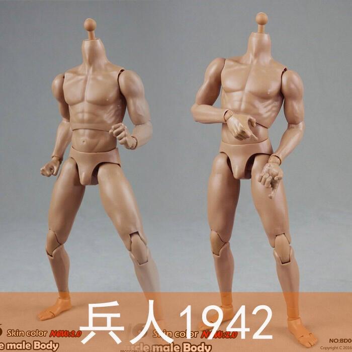 【金牛模玩】兵人1942 COO BD003 BD004 1:6 肌肉男素體 兵人素體  標準:增高