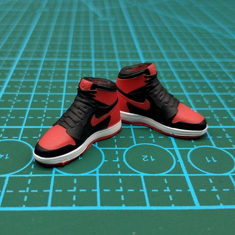 【金牛模玩】1:12潮流兵人配件AJ1籃球鞋6寸figma素體shf板鞋mezco模型3a鞋子