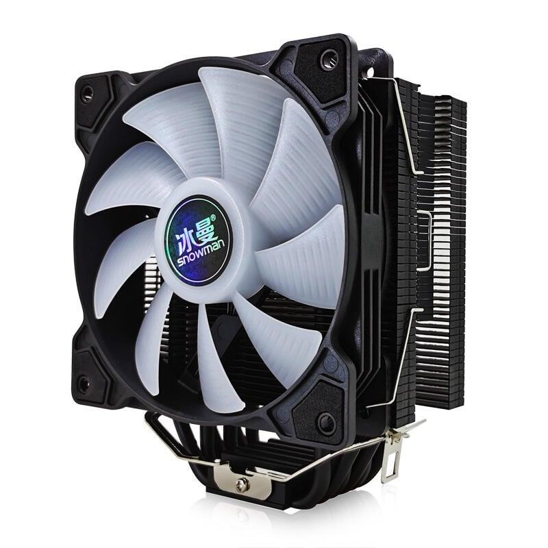 冰曼 6熱管CPU散熱器靜音12CM風冷1151臺式機電腦2011CPU風扇AMD