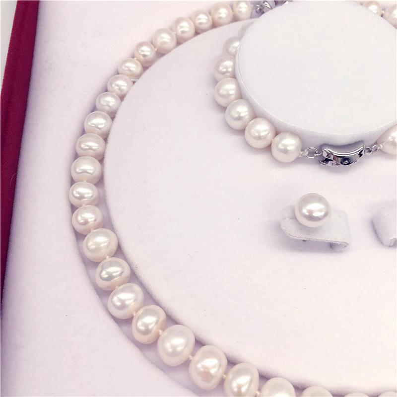 熱賣商品天然珍珠項鏈套裝手鏈耳釘項鏈套盒禮盒包裝高端定節日送禮精選