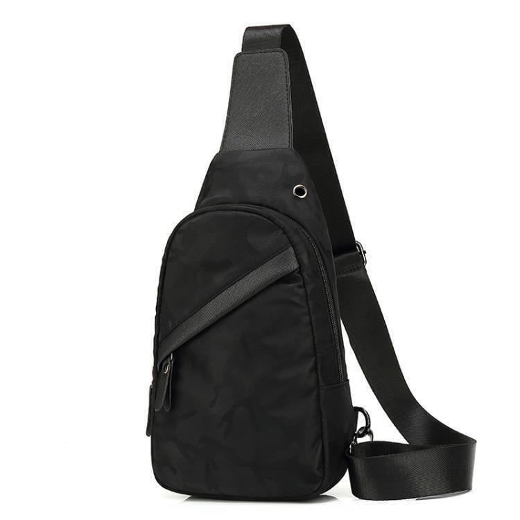 獨品t新款胸包男士包包側背斜背包男潮學生帆布休閒胸前潮流小背包