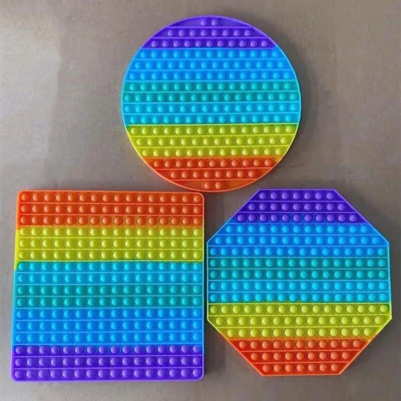 大號彩虹款滅鼠先鋒我是高手心算彩色大尺寸玩具30CM解壓益智