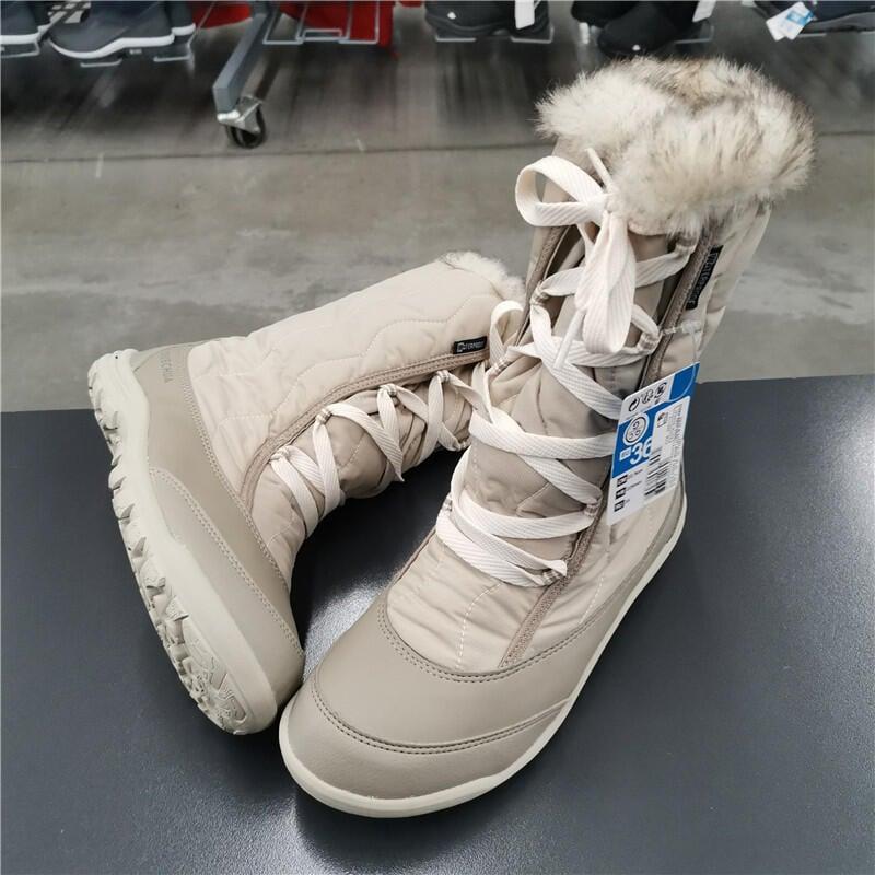 護具配件◆現貨迪卡儂 戶外運動 冬季女 徒步鞋 高筒 防水保暖 雪地靴  QUECHUA