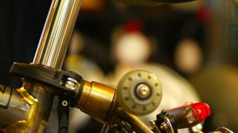 新款熱賣★臺灣MULTI-S霹靂馬Brompton小布后避震器復古金銅色雙向減震器現貨