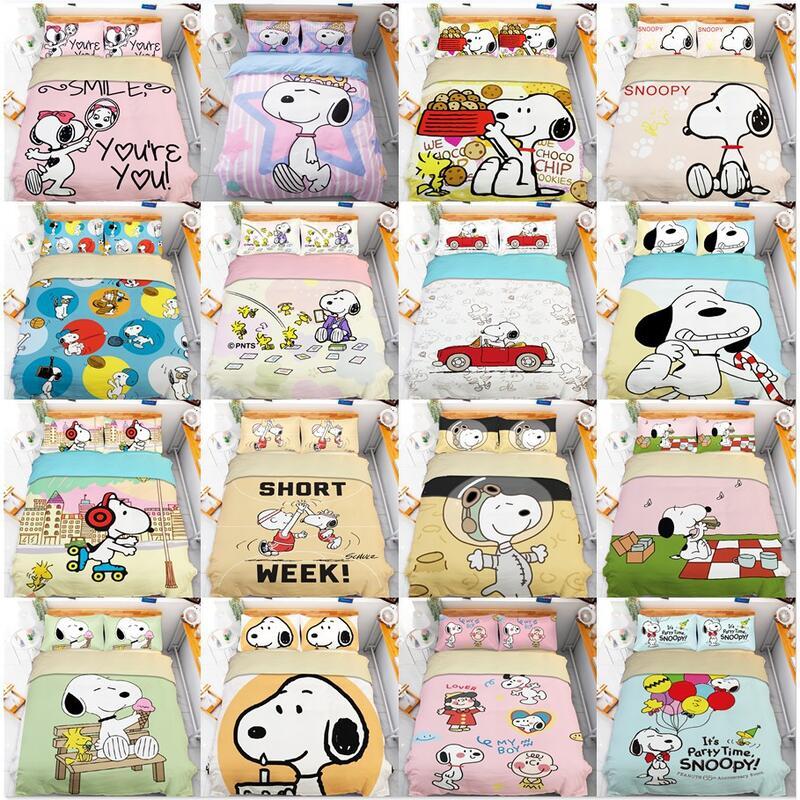 snoopy 史努比床包組 可愛史努比 snoopy床包 卡通床包 柔軟舒適不起球不掉色 超可愛床包組 單人/雙人/床包