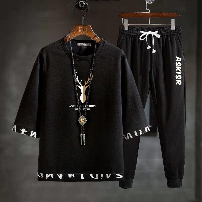 【新款熱賣】夏季新款短袖套裝男兩件套t恤運動休閑帥氣韓版潮流一套衣服學生